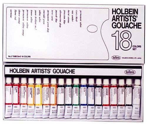 Holbein Artist Gouache Set (18 Tubes)