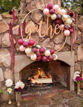 Hula-Hoop-Wreath