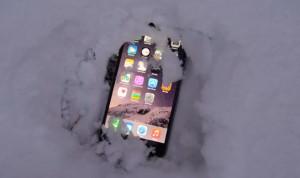 telefon u snegu