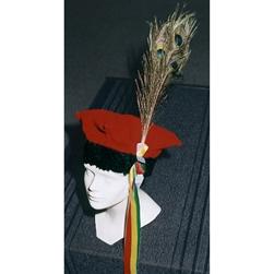 Polish Art Center Krakowiak Hat With Peacock Feather