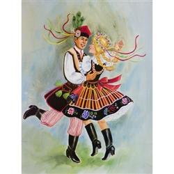 Polish Art Center Polish Dancers 18 X 24 Poster