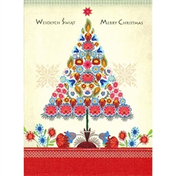 Polish Art Center Polish Folk Christmas Card Wycinanki