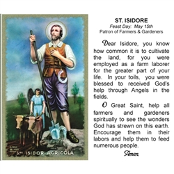 Polish Art Center St Isidore Holy Card
