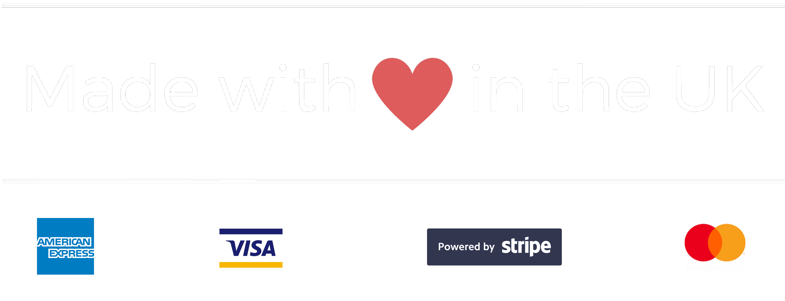 Made with <3 in the UK