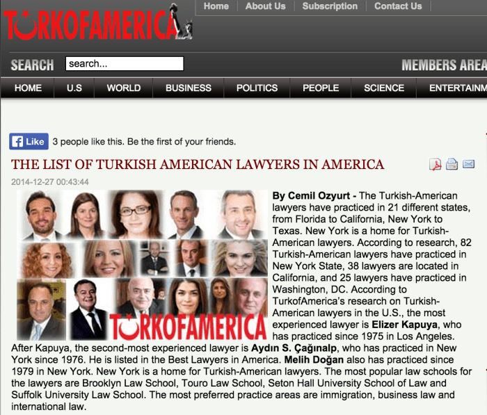 Turkish American Lawyers in America