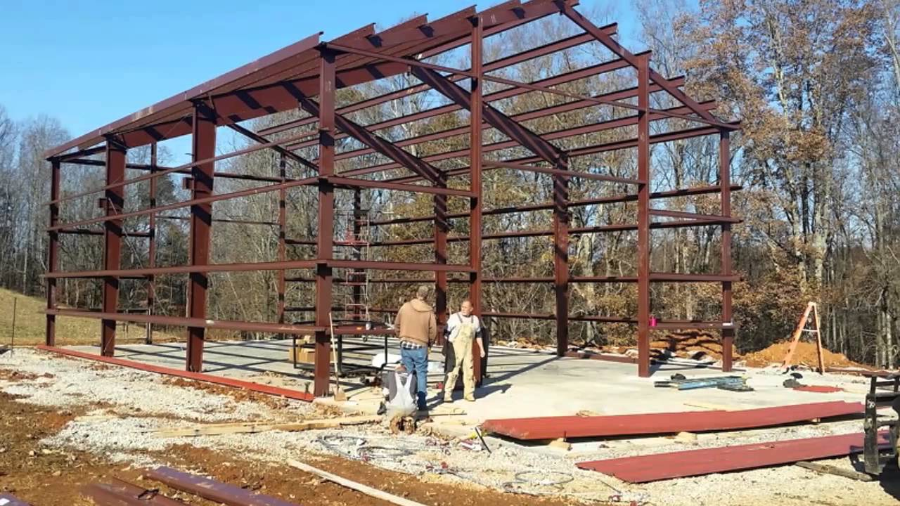 hight resolution of what is the process of building a pole barn