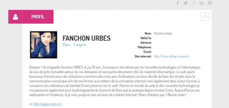 fanchon cv