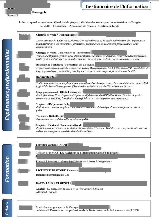 analyse de cv  u0026quot documentaliste juridique u0026quot