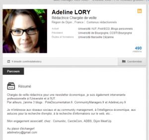 profil complet - adeline - linkedin