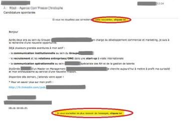 erreur candidatures - mailchimp