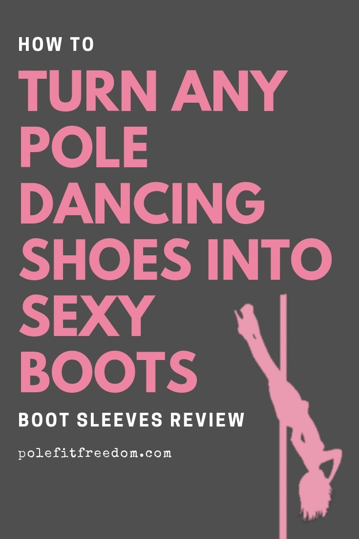 How to turn any pole dancing shoes into sexy boots with boot sleeves by BOOMKATS Pole Wear