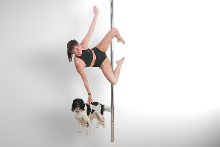 Pole dance moves from a genie