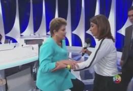 Após sentir-se mal no debate do SBT, Dilma divulga vídeo para dizer que está bem