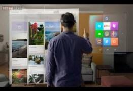 A realidade virtual da ficção científica direto pra sua vida, conheçam o Hololens