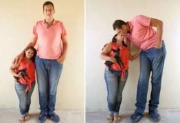 Homem mais alto do Brasil casa com mulher de 1,5 m