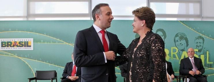 aguinaldodilma1 e1457468509759 - PP PODE SAIR: Aguinaldo Ribeiro diz a presidenta Dilma que é preciso conter a saída do PMDB