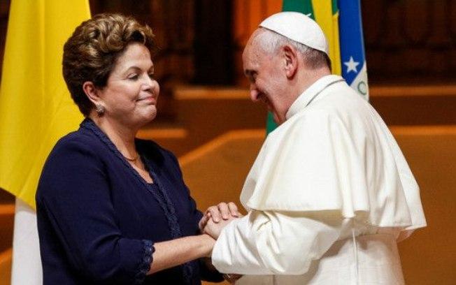 dilma e papa