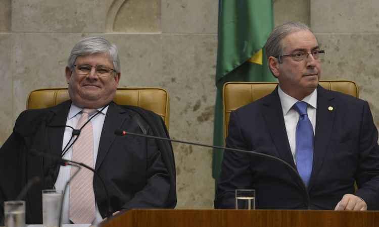 20160201165900401230o - SAIA JUSTA: Cunha é ignorado por Janot em cerimônia no STF e evita dar declarações à imprensa