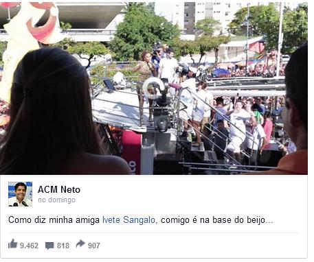 acm - Não é só você: políticos também curtem Carnaval nas redes sociais