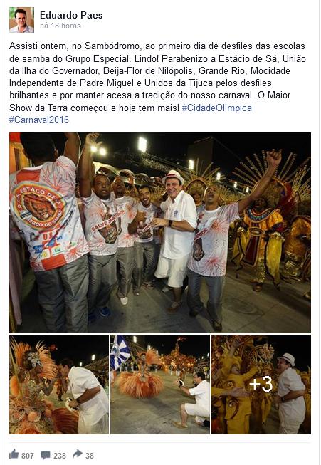 eduardopaes - Não é só você: políticos também curtem Carnaval nas redes sociais