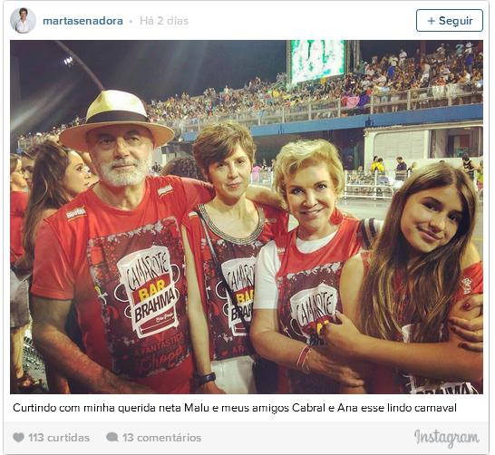 marta - Não é só você: políticos também curtem Carnaval nas redes sociais