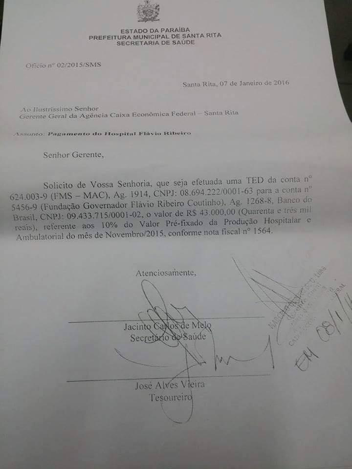 saude 4 - Prefeitura de Santa Rita garante atendimento de emergência em hospital da cidade