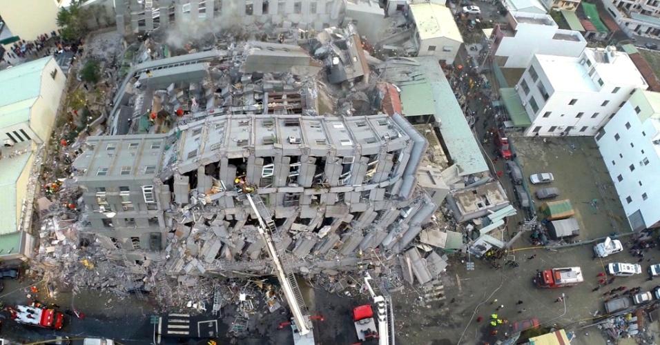 terremoto - Terremoto em Taiwan deixa 11 mortos e quase 500 feridos