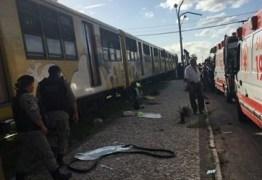 Morre quarta vítima do acidente envolvendo ônibus e trem em Santa Rita