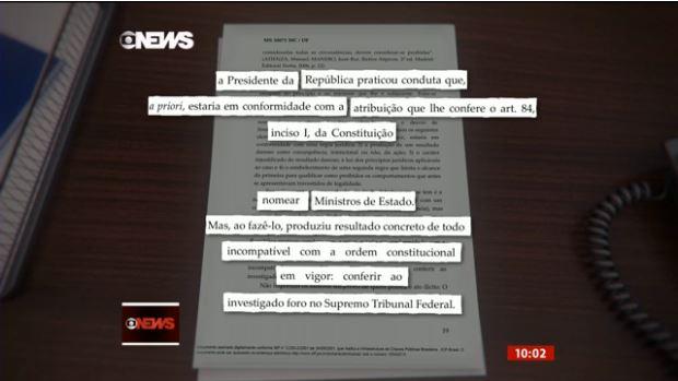 Liminar Mendes contra posse de lula - Mendes diz que termo de posse foi 'salvo conduto' a Lula - LEIA NA ÍNTEGRA