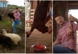 Rodrigo Hilbert gera revolta ao matar filhote de ovelha em seu programa de culinária