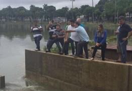 CHUVA DE 134 MM NA CAPITAL: Prefeito Cartaxo visita obra da Lagoa e constata que drenagem funcionou