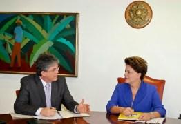 Ricardo Coutinho visita Dilma em Brasília para prestar solidariedade