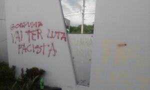 pmdb pichacao2 1 - VEJA VÍDEO: Imagens dos vândalos que picharam sede do PMDB na Paraíba
