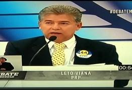 DEBATE NA MASTER: Leto responde acusações de Sobrinho e acusa democrata de votar matérias contra Cabedelo na Câmara