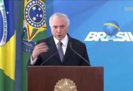 Temer diz que reforma trabalhista não vai reduzir direitos dos brasileiros