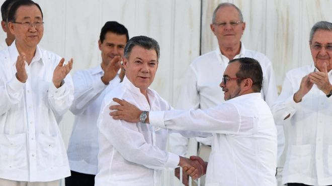 91557750 bc9fb263 f2ff 4d96 8009 9045ec55948f - Derrotado nas urnas, presidente da Colômbia vence Nobel da Paz