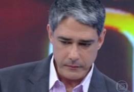 William Bonner é afastado do Jornal Nacional