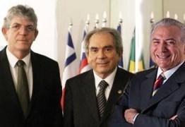 É HOJE: Acompanhado de Lira, governador Ricardo Coutinho será recebido por Temer