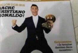 Capa de revista vaza e mostra Cristiano Ronaldo com a Bola de Ouro