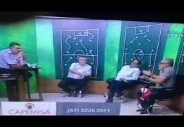 VEJA VÍDEO – Ex-presidente do Inter e jornalista trocam socos ao vivo na TV