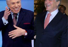 Silvio Santos brinca com cabelo branco: estou usando a tinta do Temer