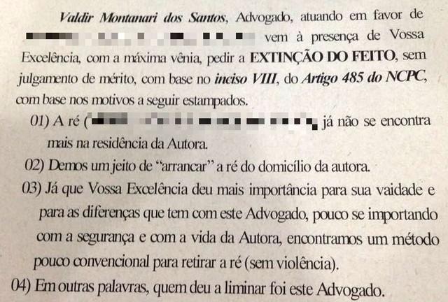 doc 1 - Advogado ameaça juiz e se diz 'estuprado' por suspensão da OAB