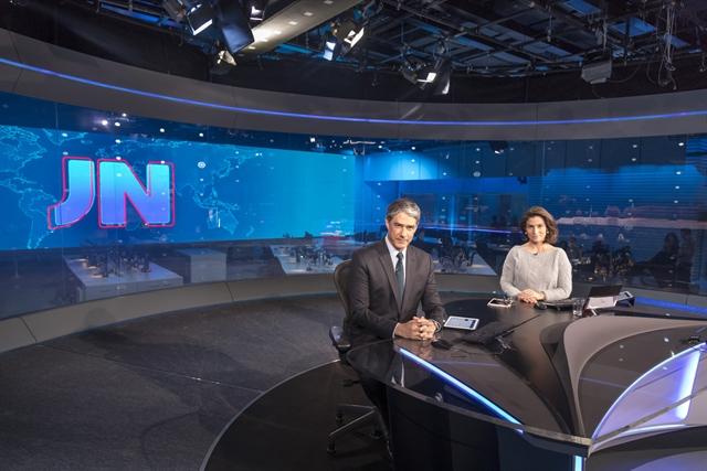 """getImageObj 41 - Chefão da Globo inaugura novo cenário do """"Jornal Nacional"""" com estrutura de 1.370m² e 3D - VEJA VÍDEO"""