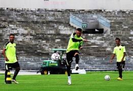 Botafogo- PB treina de portões fechados e se prepara para jogo do próximo domingo