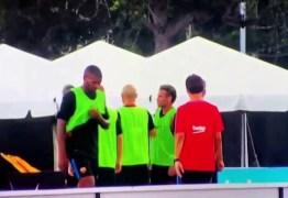 Neymar briga com companheiro de equipe e abandona treino antes de clássico -VEJA VÍDEO