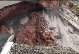 VEJA VÍDEO: Imagens de erosão da Barreira do Cabo Branco chocam internautas