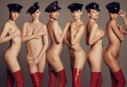 Modelos aparecem nuas em ensaio para a Vogue japonesa