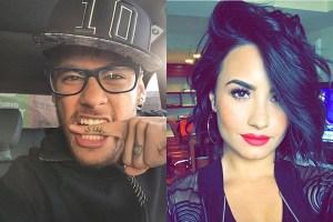 neymar demi 300x200 - Marquezine curte suposto affair entre Neymar e Demi Lovato