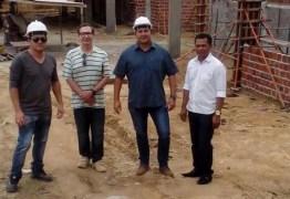 Secretários visitam obras da nova creche municipal de Alhandra que atenderá 200 crianças