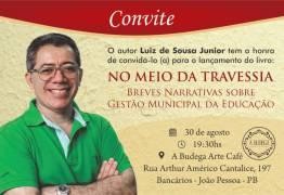 Professor Luiz Sousa Junior lança livro hoje em João Pessoa